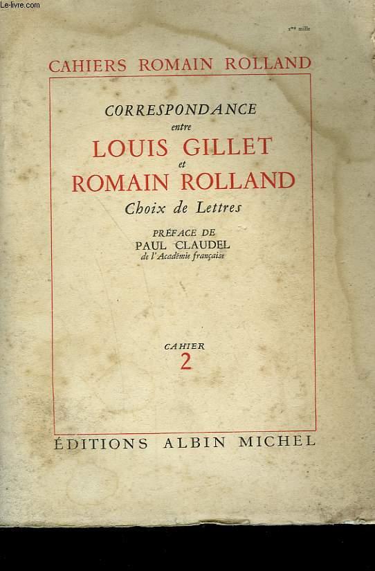 CORRESPONDANCE ROMAIN ROLLAND MAXIME GORKI. CAHIER N°2.