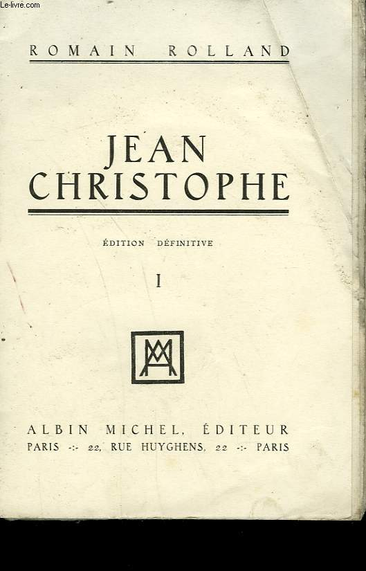 JEAN CHRISTOPHE. TOME 1.