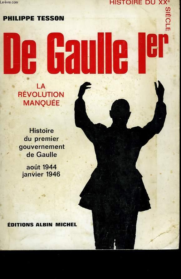 DE GAULLE 1ER.