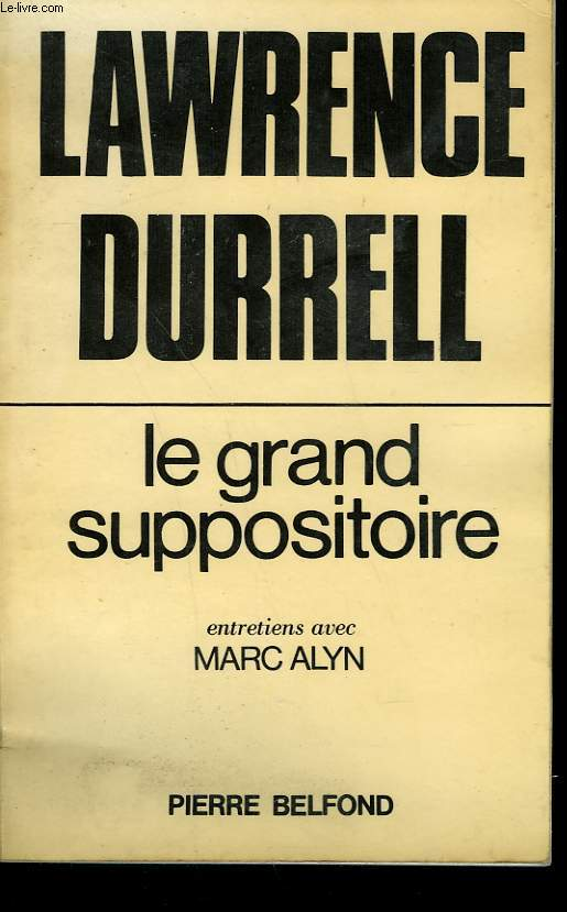 LE GRAND SUPPOSITOIRE.