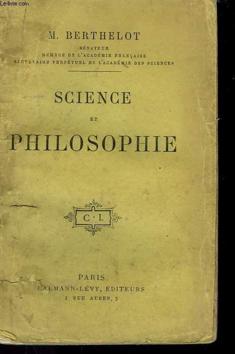 SCIENCE ET PHILOSOPHIE.