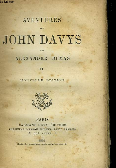 AVENTURES DE JOHN DAVYS. TOME 2.