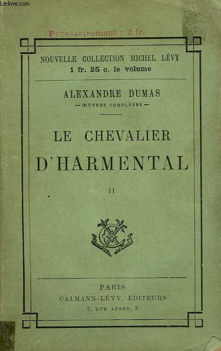 LE CHEVALIER D'HARMENTAL. TOME 2.