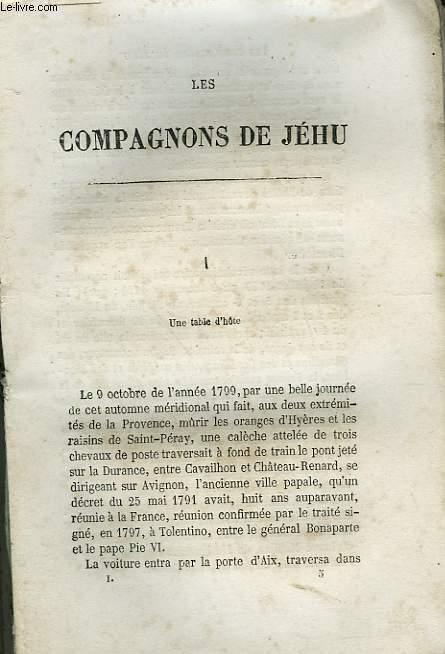 LES COMPAGNONS DE JEHU.