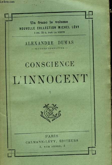 CONSCIENCE L'INNOCENT. TOME 1.