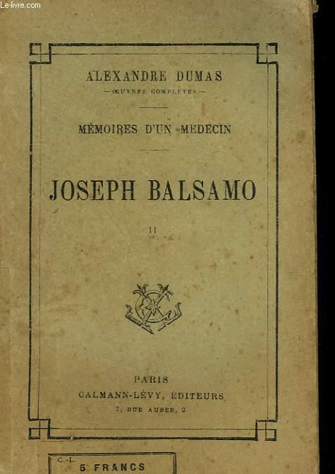 JOSEPH BALSAMO. TOME 2.