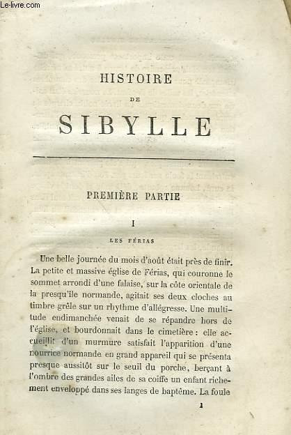HISTOIRE DE SIBYLLE.