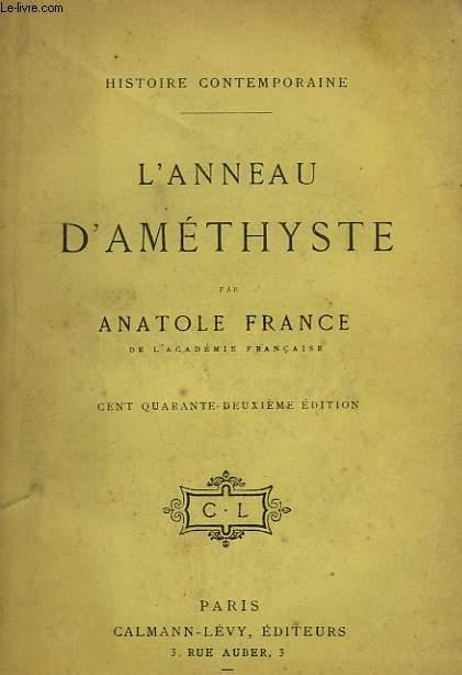 L'ANNEAU D'AMETHYSTE.