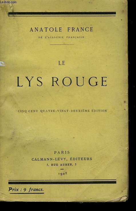 LE LYS ROUGE.