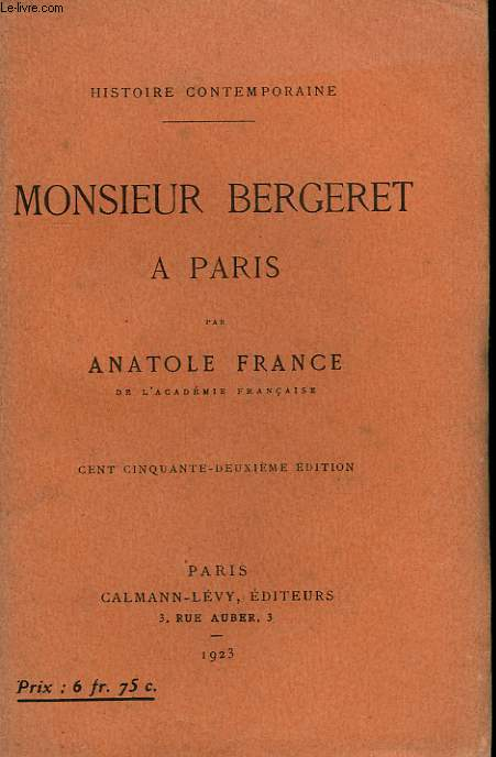 MONSIEUR BERGERET A PARIS.