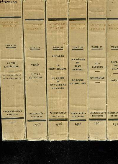 OEUVRES COMPLETES ILLUSTREES DE ANATOLE FRANCE EN 25 TOMES.