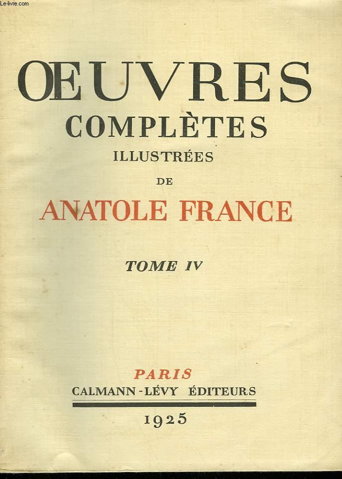 OEUVRES COMPLETES ILLUSTREES DE ANATOLE FRANCE. TOME 4 : NOS ENFANTS SUIVI DE BALTHASAR.