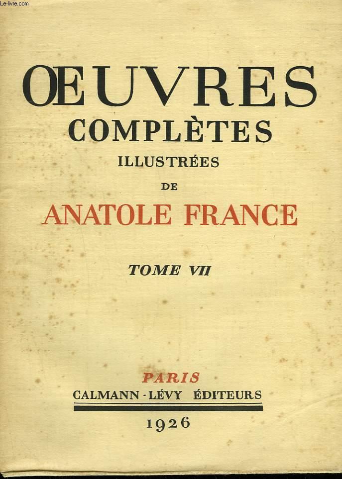 OEUVRES COMPLETES ILLUSTREES DE ANATOLE FRANCE. TOME  7 : LA VIE LITTERAIRE. TROISIEME ET QUATRIEME SERIE.