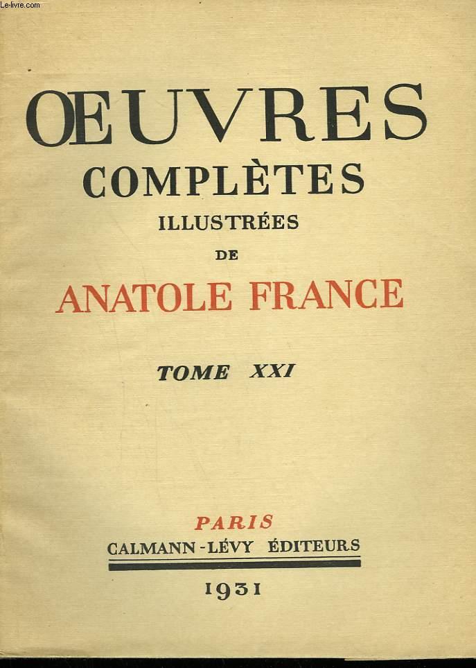 OEUVRES COMPLETES ILLUSTREES DE ANATOLE FRANCE. TOME 21 : LE GENIE LATIN SUIVI DE LES POEMES DU SOUVENIR.