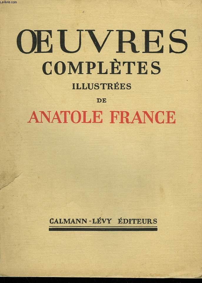 OEUVRES COMPLETES ILLUSTREES DE ANATOLE FRANCE. TOME 22 : LA REVOLTE DES ANGES.
