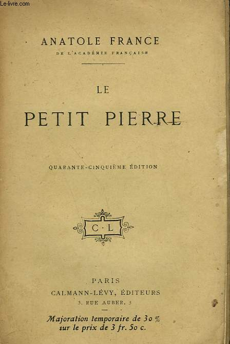 LE PETIT PIERRE.