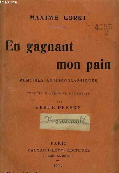 EN GAGNANT MON PAIN.