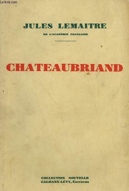 CHATEAUBRIAND.