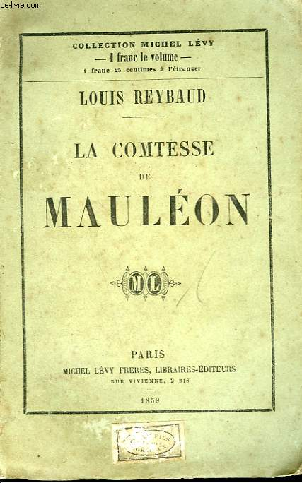 LA COMTESSE DE MAULEON.