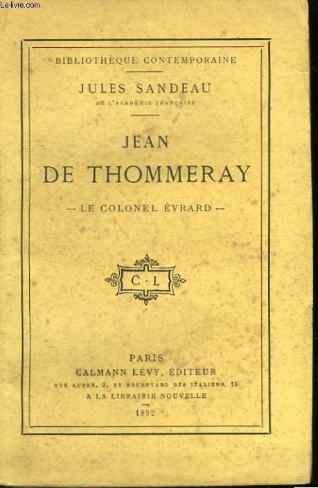 JEAN DE THOMMERAY.