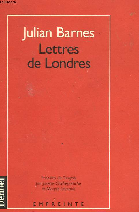 LETTRES DE LONDRES.