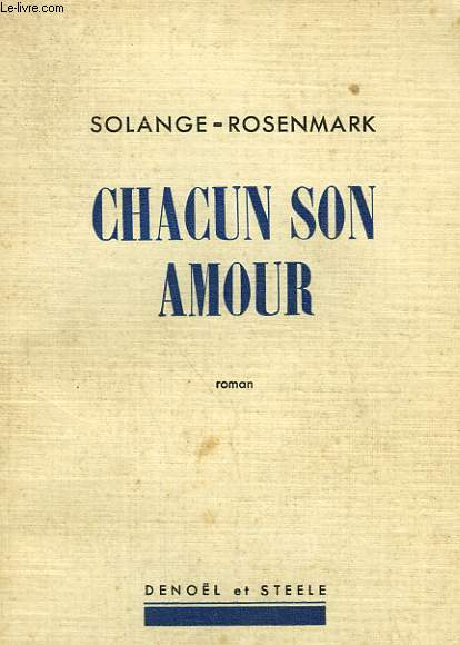 CHACUN SON AMOUR.
