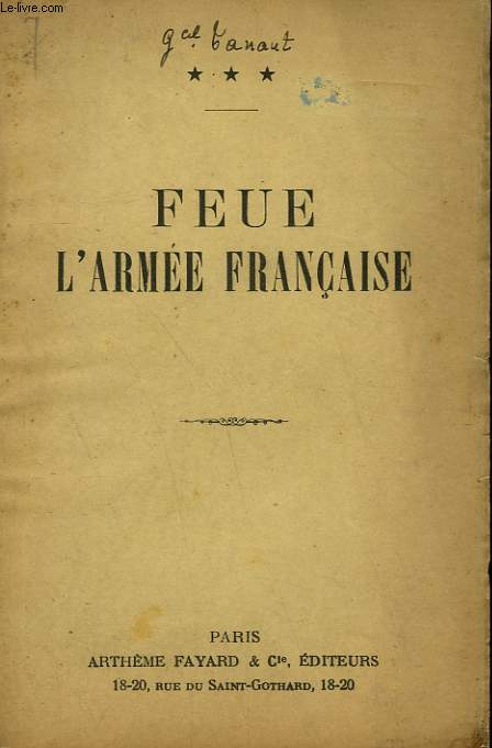 FEUE L'ARMEE FRANCAISE.