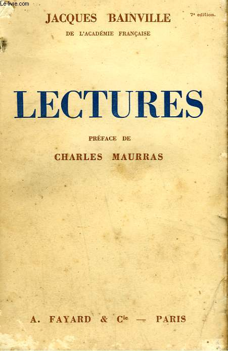 LECTURES.