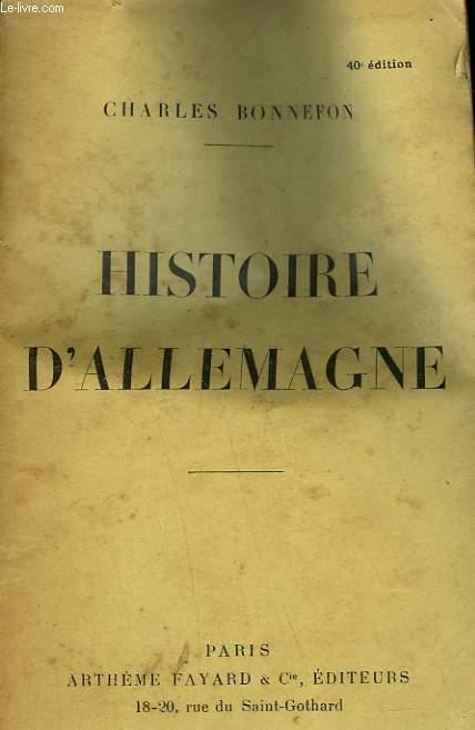 HISTOIRE D'ALLEMAGNE.