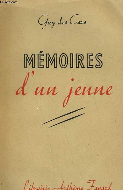 MEMOIRES D'UN JEUNE.