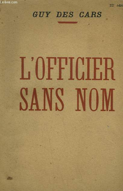 L'OFFICIER SANS NOM.