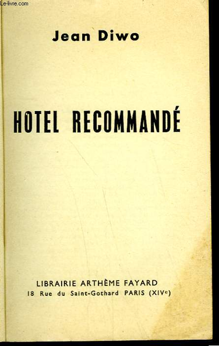 HOTEL RECOMMANDE.