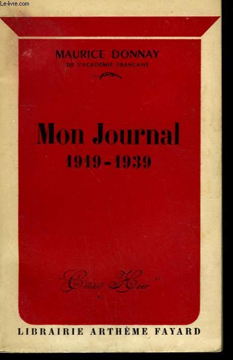 MON JOURNAL 1919-1939.