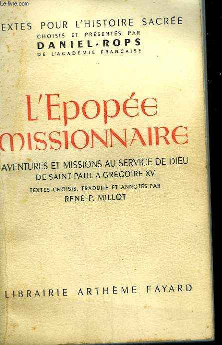 L'EPOPEE MISSIONNAIRE.