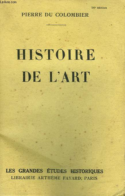 HISTOIRE DE L'ART.