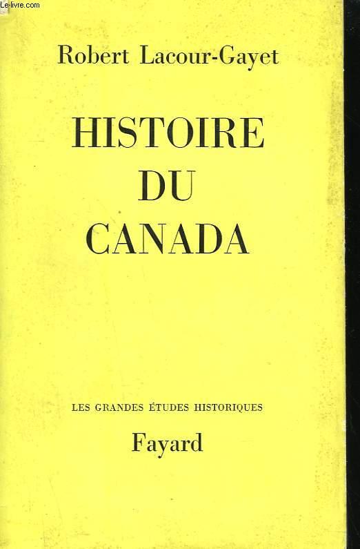 HISTOIRE DU CANADA.
