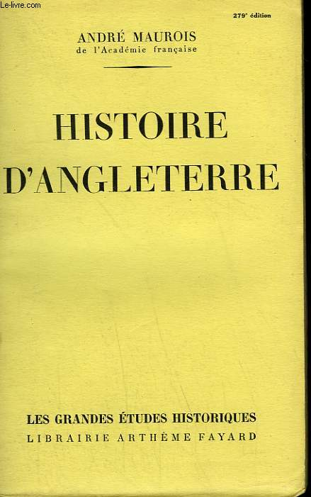 HISTOIRE D'ANGLETERRE.