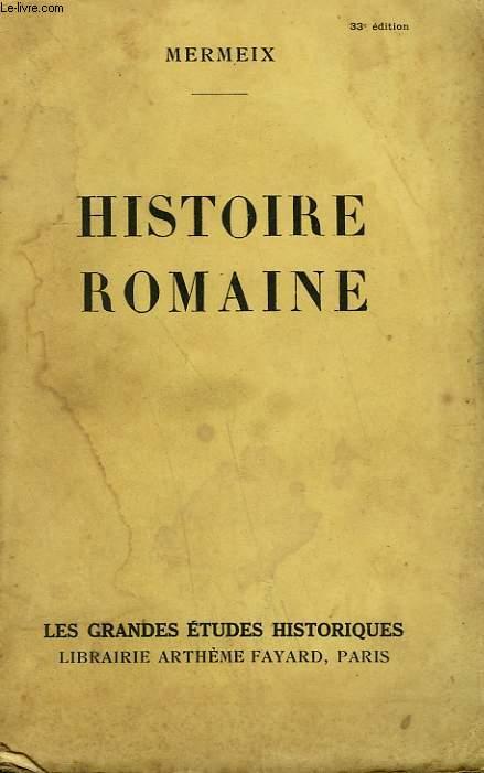 HISTOIRE ROMAINE.