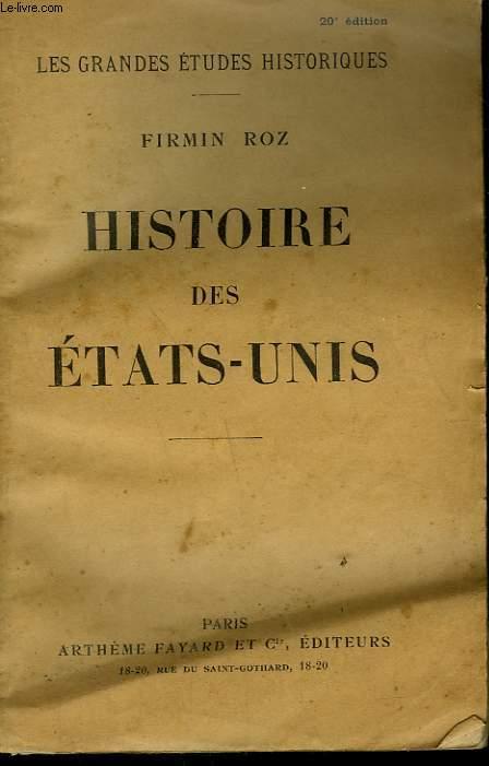 HISTOIRE DES ETATS UNIS.