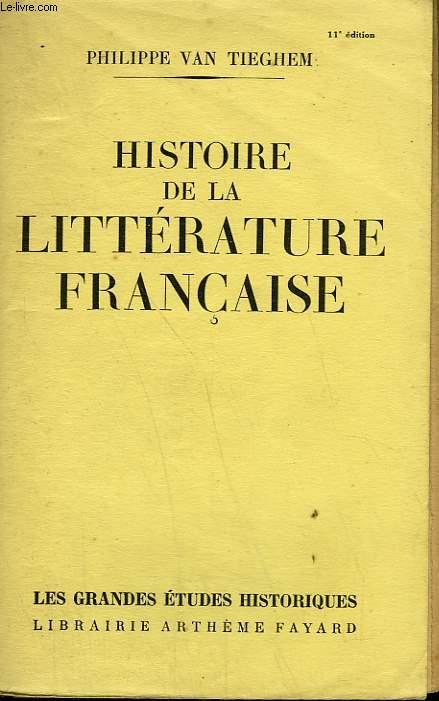HISTOIRE DE LA LITTERATURE FRANCAISE.