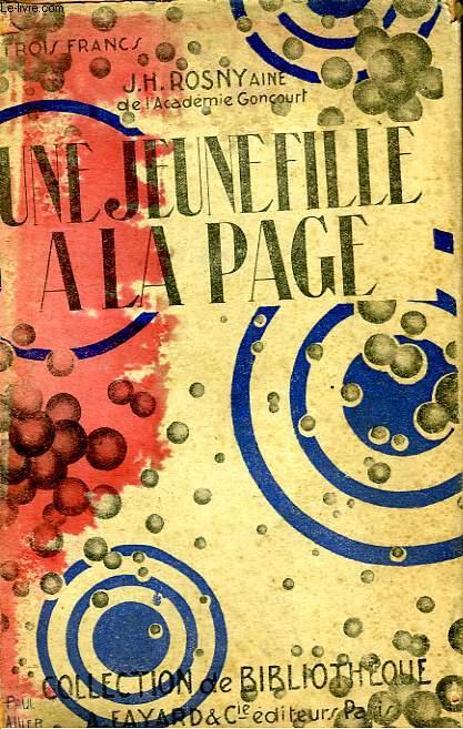 UNE JEUNE FILLE A LA PAGE. COLLECTION DE BIBLIOTHEQUE N° 21.