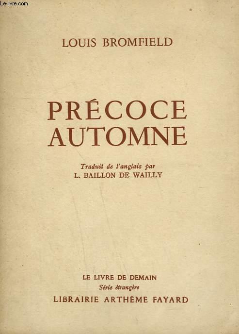 PRECOCE AUTOMNE. LE LIVRE DE DEMAIN N° 21.