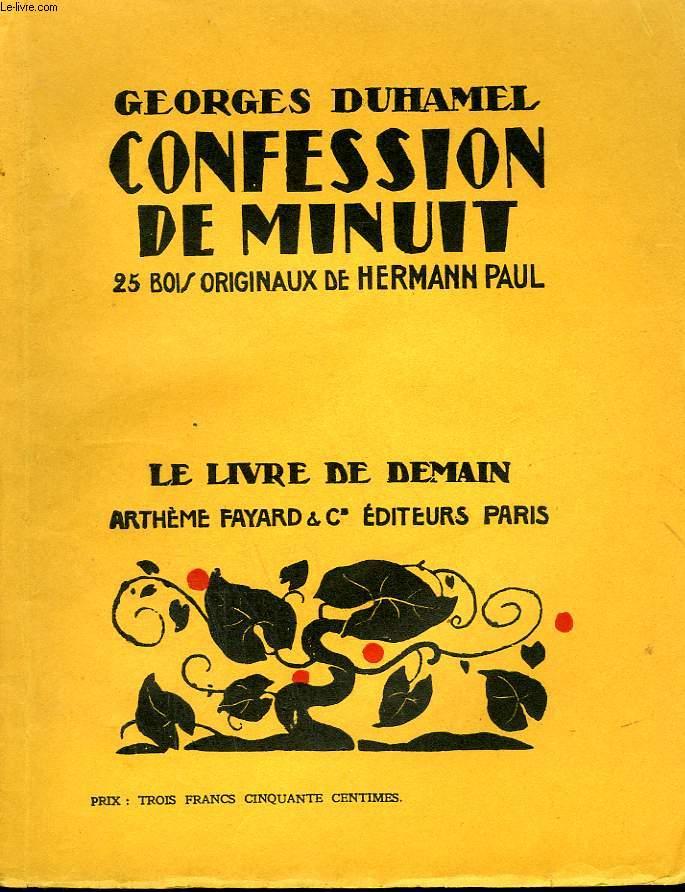CONFESSION DE MINUIT. 25 BOIS ORIGINAUX DE HERMANN PAUL. LE LIVRE DE DEMAIN N° 26.