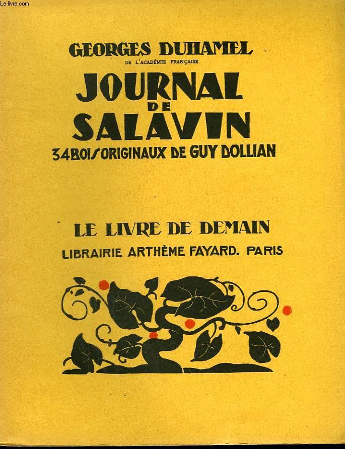 JOURNAL DE SALAVIN. 34 BOIS ORIGINAUX DE GUY DOLLIAN. LE LIVRE DE DEMAIN N° 82.