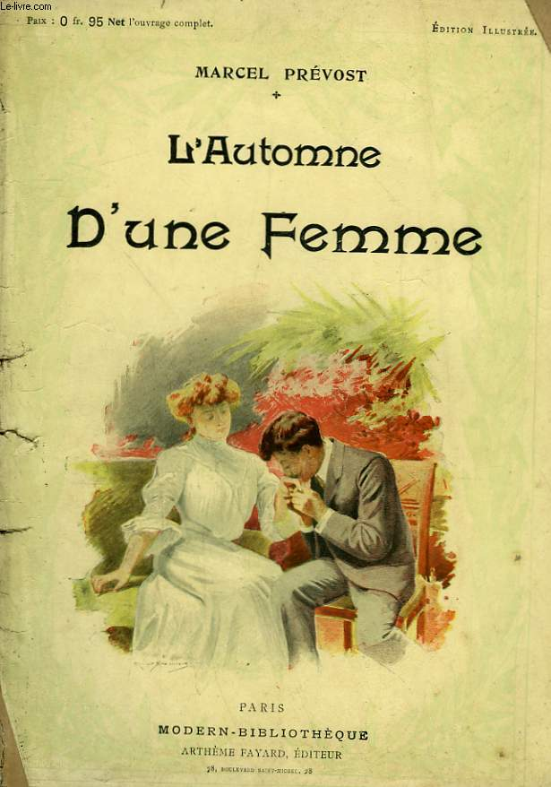 L'AUTOMNE D'UNE FEMME. COLLECTION MODERN BIBLIOTHEQUE.