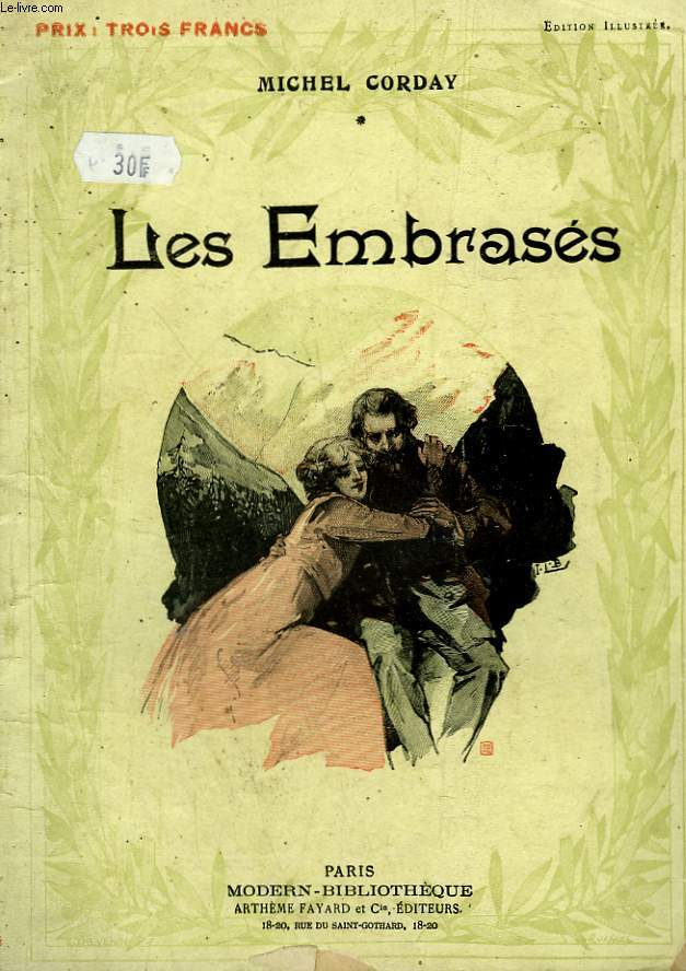 LES EMBRASES. COLLECTION MODERN BIBLIOTHEQUE.