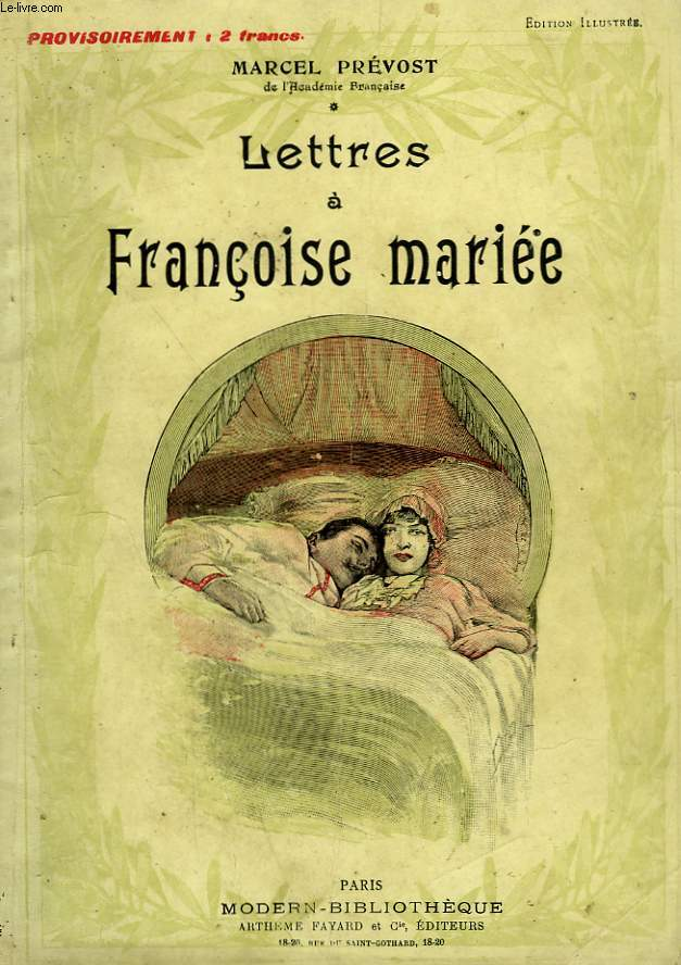 LETTRES A FRANCOISE MARIEE. COLLECTION MODERN BIBLIOTHEQUE.