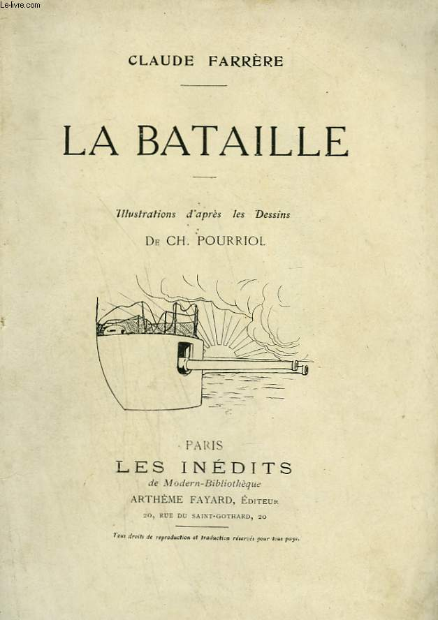 LA BATAILLE. COLLECTION MODERN BIBLIOTHEQUE.