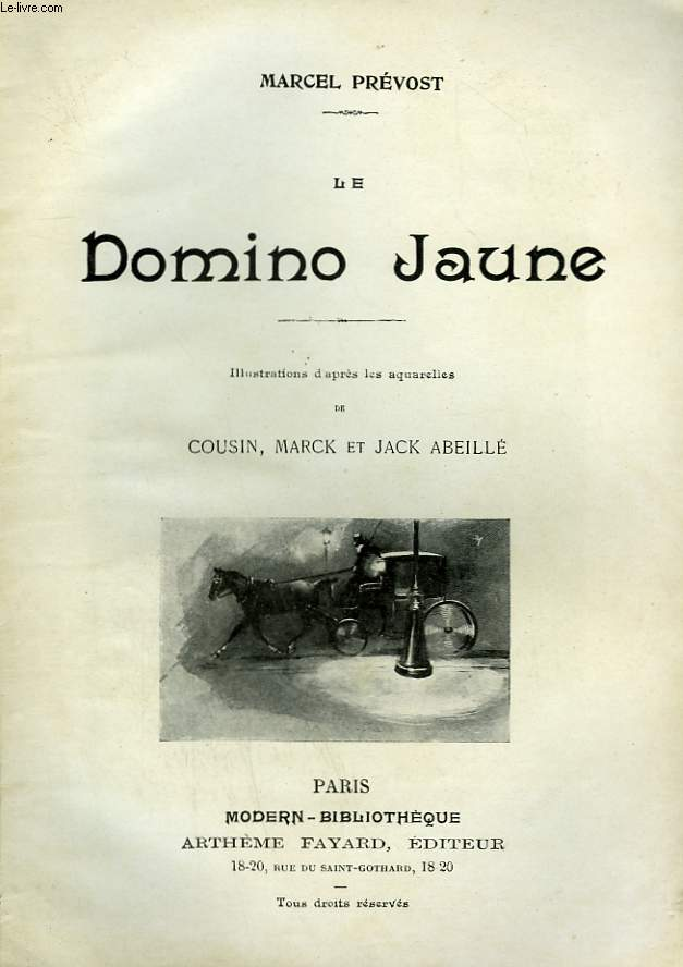LE DOMINO JAUNE. COLLECTION MODERN BIBLIOTHEQUE.