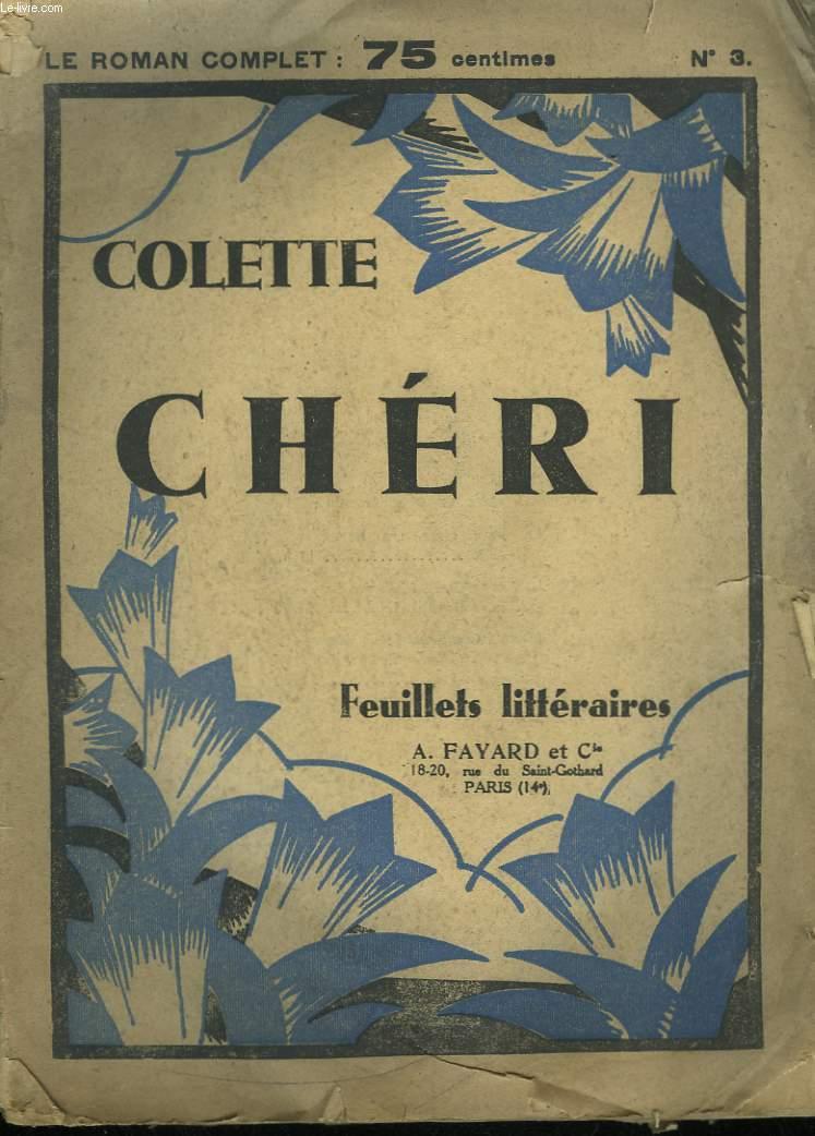 CHERI. FEUILLETS LITTERAIRES N°3.